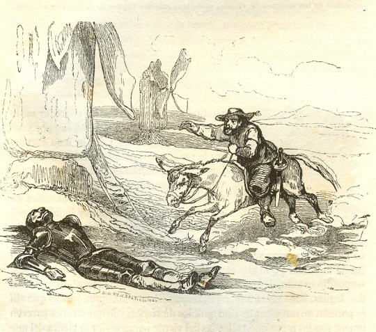 Don Quijote de La Mancha. Johannot.